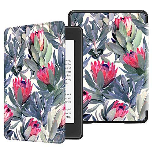 Fintie Hülle für Kindle Paperwhite (10. Generation – 2018) - Die dünnste und leichteste Schutzhülle Tasche mit Auto Sleep/Wake Funktion für Amazon Kindle Paperwhite eReader, Protea