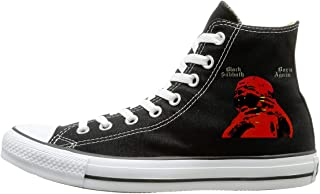 Daily Black Sabbath Born Again Print High-top Flat Canvas Shoes Fashion Sneakers Plus
