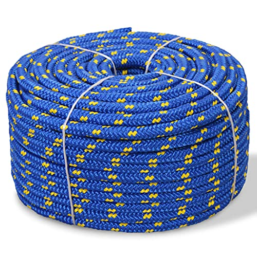 """Polypropylene Rope Easy Knot, Flexible All Purpose Flagline Rope, Hoisting Line, High Strength, UV Resistant and Excellent Shock Absorption, Good for Tie, Pull, Swing and Knot, 0.39"""" 1968.5"""" Blue"""