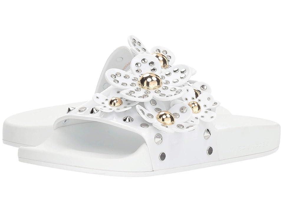 Marc Jacobs Daisy Studded Aqua Slide (White) Women