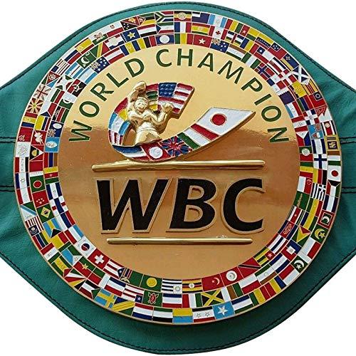 House of Highland 77 WBC - Cinturón 3D para campeonato de boxeo, tamaño completo