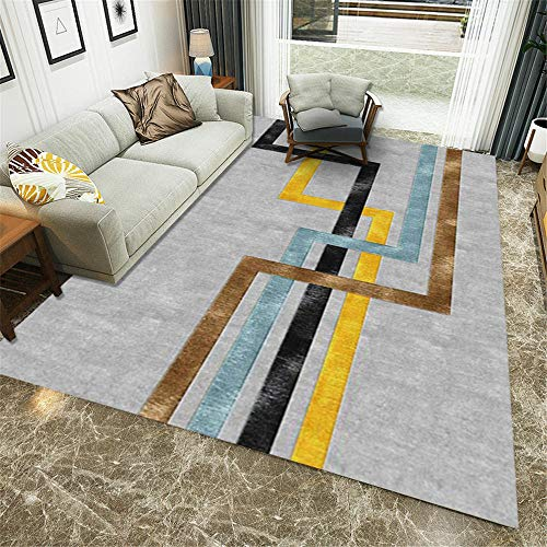 boys bedroom rug grey Salon carpet fuzzy gray simple stripe pattern washable carpet anti-mite rug for living room 40X60CM patio rugs waterproof large 1ft 3.7''X1ft 11.6''