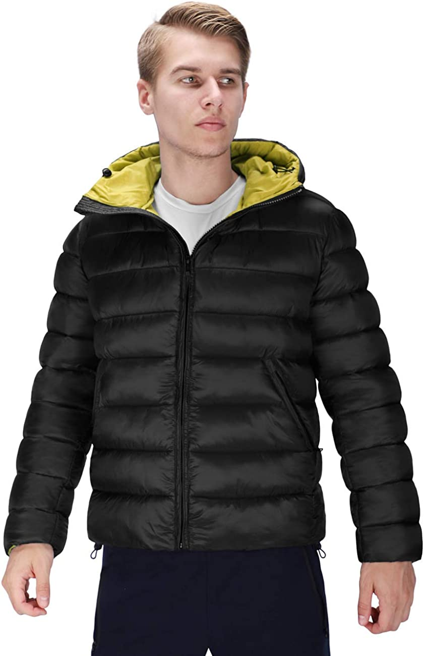 DISHANG Men's Puffer Jacket Packable Ultra LightweightPuffer Coat