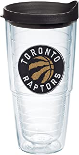 Tervis 1198253 NBA Toronto Raptors Primary Logo Tumbler with Emblem and Black Lid, Tritan, 24 Fluid_Ounces, Clear