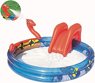 Water Pool Slide Inflatables Bouncy Castles with Water Slide,Water Play Centre Water Park for Kids with Water Slide