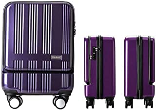 YUMILI Portable Boarding Business Suitcase Trolley Suitcase Personalized Check-in, The Computer Bag, Carry-on Luggage (Color : E, Size : 18.5inch)