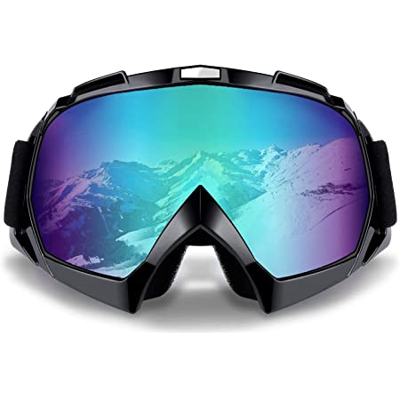 Motocross Goggles Anti-fog Dustproof Motorcycle Clear Goggles MTB ATV Mountain Downhill Trail Dirt Jump Cycling Off Road Racing MX Goggles with Tear Off Motorbike Goggles for Helmets Men Women Adults