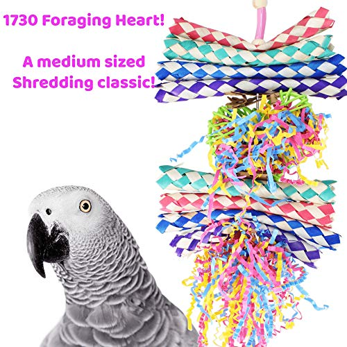 Bonka Bird Toys 1730 Foraging Hearts Bird Toy