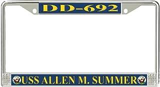 MilitaryBest USS Allen M. Sumner DD-692 License Plate Frame