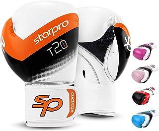Starpro Junior Performer rękawice bokserskie z jedną powłoką | skóra syntetyczna | czarny | do treningu młodzieży i sparin...