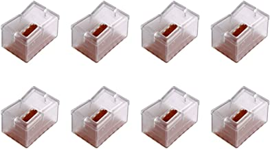 Andux 8Pcs/Set Rectangle Bottom Silicone Wood Floor Protectors Chair Leg Caps Furniture Feet Pads Table Covers Anti-Slip P...
