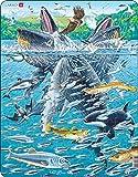 Larsen FH47 Balene megattere in Una Scuola di aringhe, Puzzle Incorniciato con 140 Pezzi
