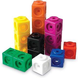 Htll Mathlink Cubes, Homeschool, Educational Counting Toy, Math Cubes, Early Math Skills, Math Manipulatives, Set of 100 C...