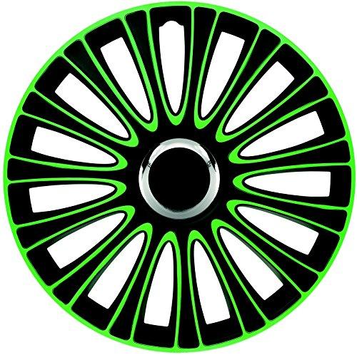 ZentimeX Z733007 Radkappen Radzierblenden universal 15 Zoll Green-Black