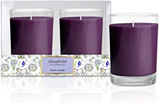 Scented Candles Glass Votives Lavender Aroma - Set of 2