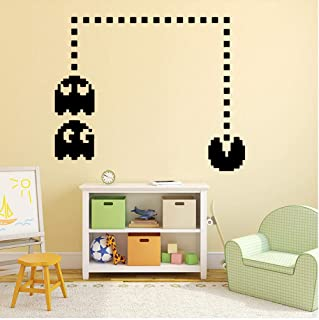 TTbaoz Diy Pacman Game Art Wall Stickers para habitaciones de bebés murales 43x34 cm