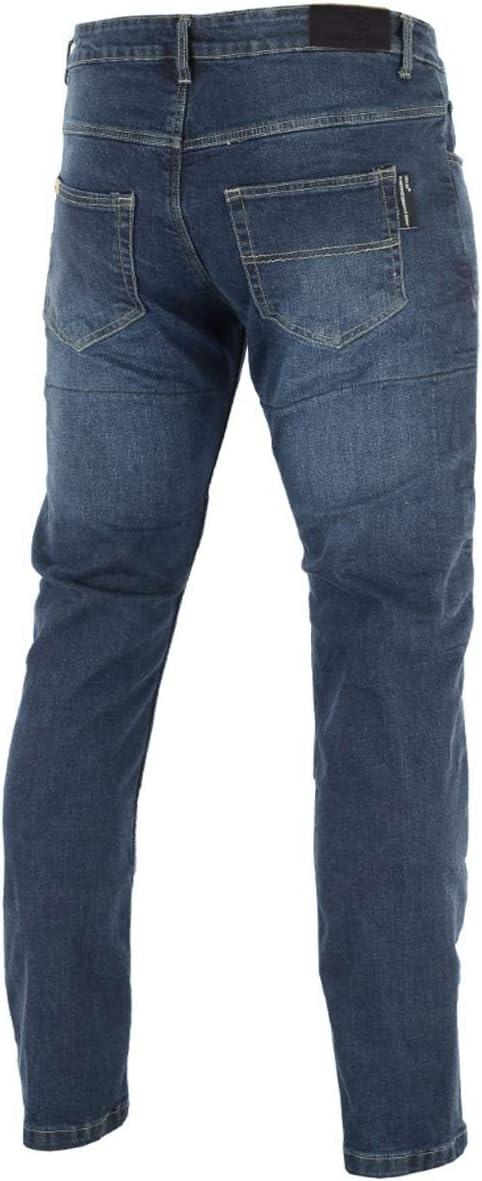 Bleu 34W 32L Stretch Slim Straight confortable et r/ésistant BUSA Bikers Gear 99s Jeans Moto avec Stretch Aramide coupe tube//droite pour Homme,CE 1621-1