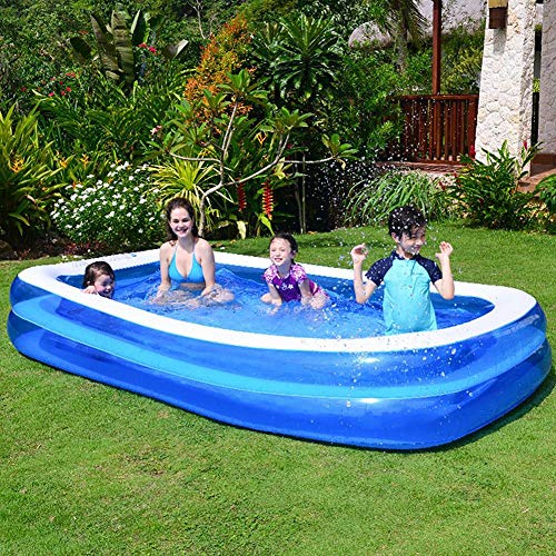 QXXZ Piscina Hinchable Familiar,Piscinas de jardín Juegos acuáticos Piscina Infantiles,Piscina Hinchable Rectangular Grande para Niños, Adultos, Jardín y Exterior2.0m