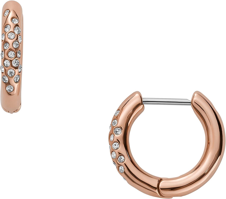 Skagen Women's Elin Rose-Tone Stainless Steel Hoop Earrings (Model: SKJ1478791)