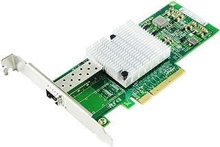 Iycorish 10Gb PCI-E NICネットワークカード82599ENチップセット Intel X520-DA1コンバージドネットワークアダプター(NIC)シングルSFP +ポート、PCI ExprイーサネットLANアダプター用 Windows r/Linuxをサポート