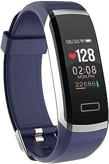 XYCSM Smart Watch Inteligente Reloj Hombres Pulsera Monitor en Tiempo Real Ritmo Cardíaco, Dormir Mejor Pareja Fitness Tracker Rosa Ajuste Mujeres/Silver Blue