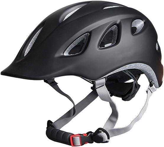 ZWYY Casque de vélo, 18 Vents résistant aux Chocs vélo Casque Montagne vélo Route sécurité Prougeection Casque Unisexe réglable Casque de Sport,noir