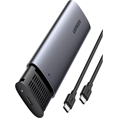 UGREEN Carcasa M.2 NVMe USB C, Caja M.2 NVMe PCIe USB 3.1 con UASP, 10Gbps Carcasa Disco Duro M.2 para SSD M.2 NVMe M Key B+M Key para PS5 Macbook Pro, con Cable USB C a USB C