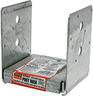 Simpson Strong Tie ABU66Z ZMAX Galvanized 12-Gauge 6x6 Adjustable Post Base 10-per Box