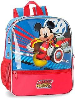World Mickey Mochila Preescolar Adaptable a Carro Multicolor 23x28x10 cms Poliéster 6.44L