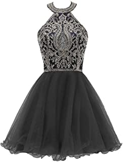 Short Tulle Homecoming Dresses Lace Appliques Beaded Puffy Prom Gowns