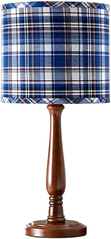 Amerikanisches Land Gitter Tischlampe Kinder Modell Zimmer Schlafzimmer Nachttischlampe weiche Dekoration Personalisierte Holz Dekoration Lampe B07FKK7RLN     | Helle Farben
