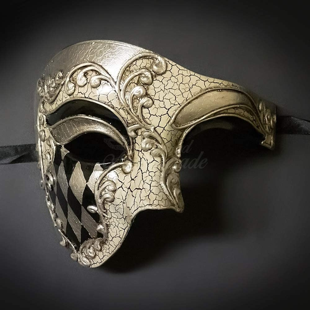Black Mask Halloween Men Mask Black Phantom Mask Phantom Mask Ball Mask Party Men Mask Black Masquerade Mask,Men Mask Wedding Mask