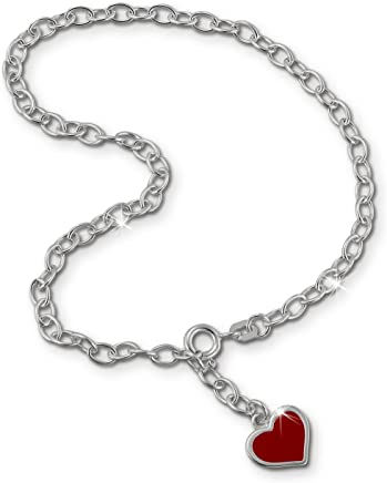 SilberDream Charm Zirkonia Globe ruby red 925 Sterling Silver Charms Pendant with Lobster Clasp for Charms Bracelet Necklace or Charms Carrier FC200R