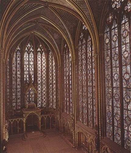 127 Sainte chapelle Parijs Grote Ramen van de Gotische Kerk 1248 - Film Film Poster - Beste Print Kunst Reproductie Kwaliteit Wanddecoratie Gift Canvas A4
