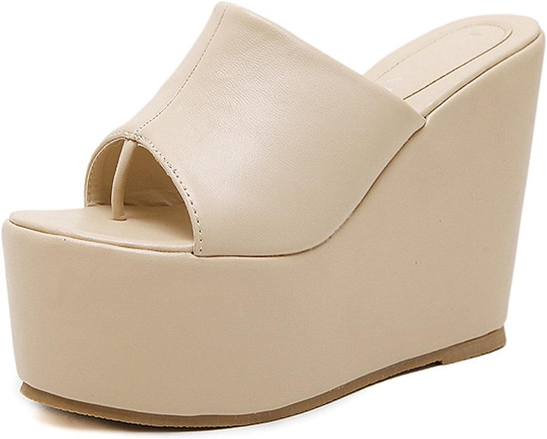Willie Marlow Women Flip Flops Slipper High Heels Platform Wedges Beach shoes