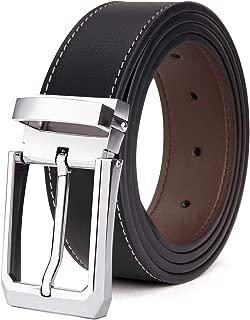 Tonly Monders Men's Belt Leather Reversible Black Brown