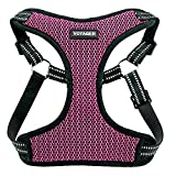 Voyager Step-In Flex Dog Harness - All Weather Mesh, Step In Adjustable Harness for Small and Medium Dogs by Best Pet Supplies - Magenta Base, Large