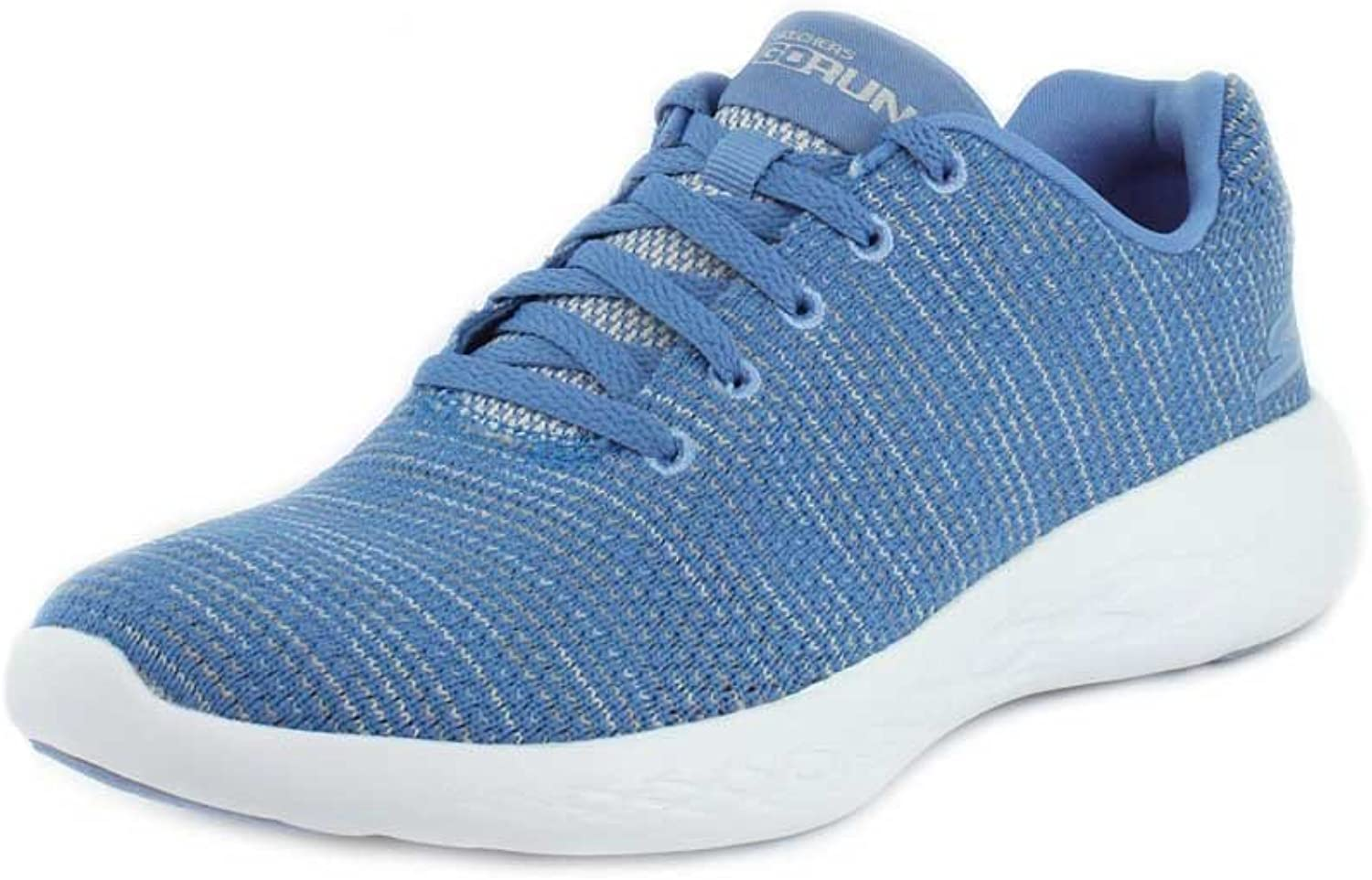 Skechers GOrun 600 Obtain Womens bluee Textile Athletic Lace Up Running shoes