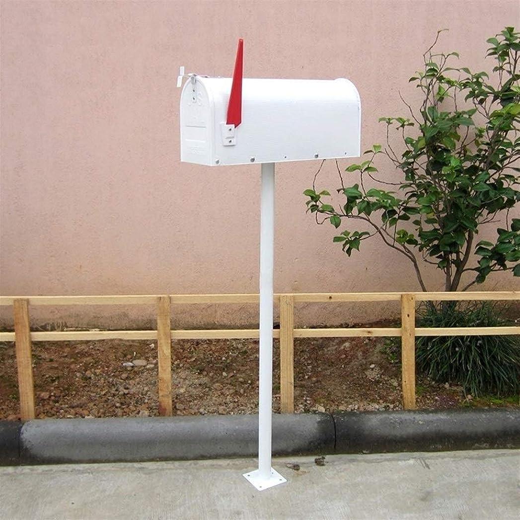リンク封筒狂うLINlq メールボックス装飾的な中容量亜鉛メッキスチールブラック、メールボックス&ポストコンボ、ホワイト/ 48インチ