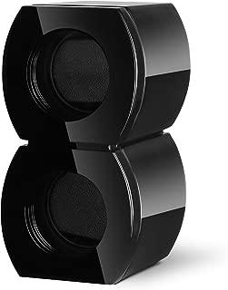 Double Wooden Watch Winder with Dual Quiet Mabuchi Motor-Black