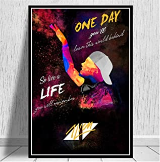yhyxll Avicii Legend Music Singer Star Modern Abstract Poster Prints Paintings Art Canvas Wall Pictures for Living Room -50x70cm No Frame