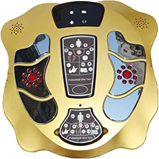 Far-infrared LCD Low Frequency Electric Foot Massager, Electromagnetic Foot Massager with 4 Pairs electrodes for the Body...