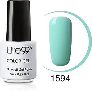 Elite99 Soak Off UV LED Color Gel Polish Lacquer Nail Art Manicure 7ml 1594 Light Mint Green