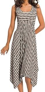 Womens Dresses Spaghetti Strap Backless Button Down Swing Midi Dress