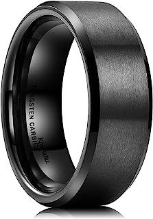 King Will Basic 8mm Tungsten Ring for Men Tungsten Carbide W