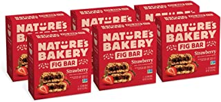 Nature's Bakery Whole Wheat Fig Bars, Strawberry, 6- 6 Count Boxes of 2 oz Twin Packs (36 Packs), Vegan Snacks, Non-GMO