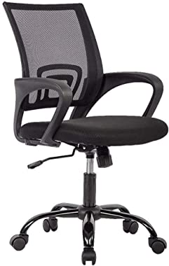 Office Chair Ergonomic Desk Chair Mesh Computer Chair Lumbar Support Modern Executive Adjustable Stool Rolling Swivel Chair f