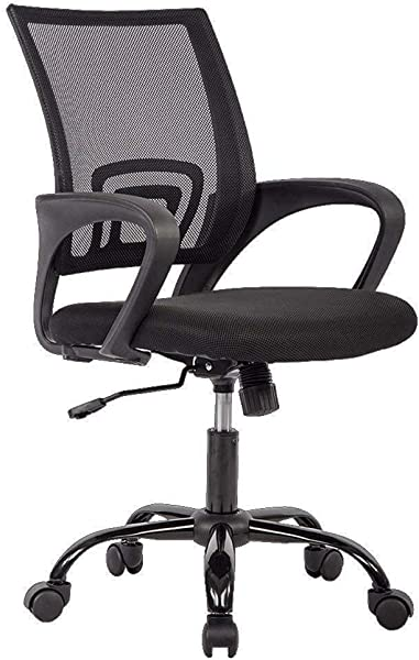 Office Chair Ergonomic Cheap Desk Chair Mesh Computer Chair Lumbar Support Modern Executive Adjustable Stool Rolling Swivel Chair For Back Pain Black