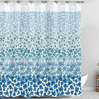 Zussun Stars Shower Curtain Set Bathroom Fabric Fall Curtains Waterproof Home