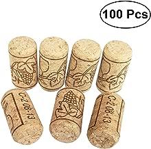 BESTONZON 100pcs Wine Corks Premium Straight Cork Stopper Wine Bottle Stopper,Excellent for Bottled Wine(2.1 x 4cm)